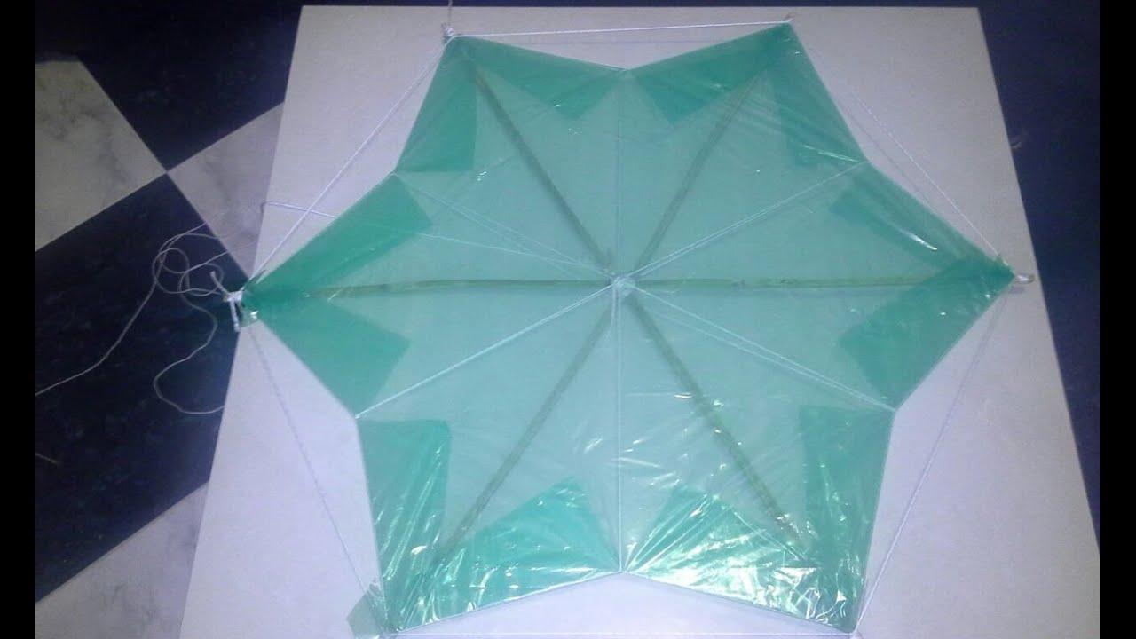 Como hacer una cometa barrilete o papalote en forma de - Como hacer una cometa paso a paso ...