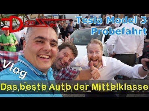 Probefahrt Tesla Model 3 in Deutschland (EU-Roadtrip YouYouXue) - das beste Auto der Mittelklasse