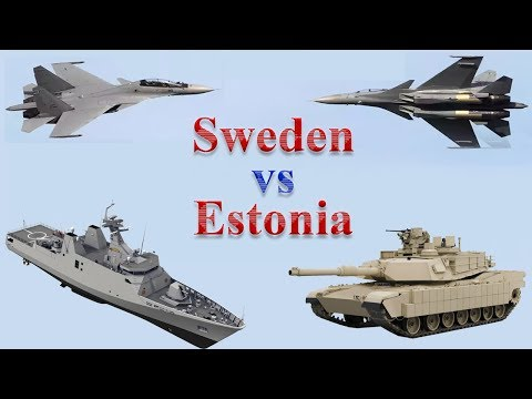 Sweden vs Estonia Military Comparison 2017