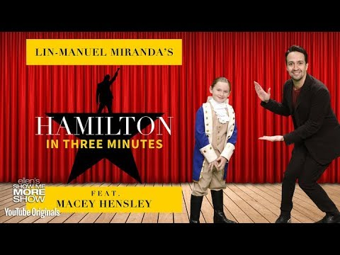 LinManuel Miranda Performs Hamilton in Under 3 Minutes
