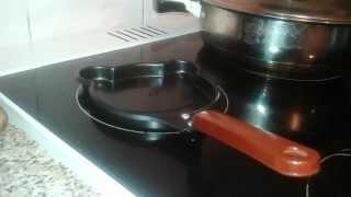Жарим яичницу!!!Тест сковородки с TinyDeal!!!!