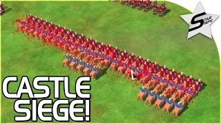 """TOTALLY ACCURATE BATTLE SIMULATOR W/ CASTLES?!?"" - Kingdom (Castle Siege) Gameplay Part 1"