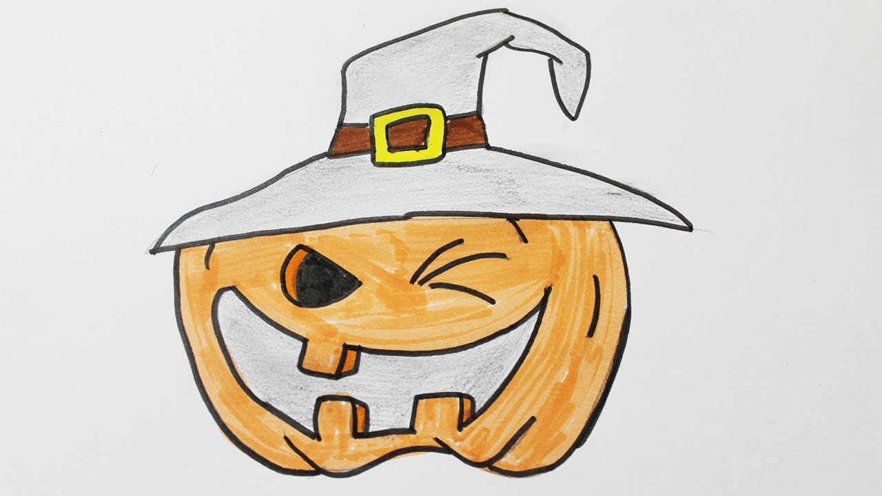Comment dessiner une citrouille d 39 halloween youtube - Comment faire des decoration d halloween ...