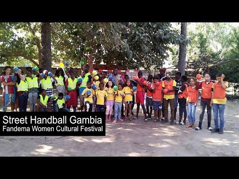 Street Handball Gambia colour Fandema Women Cultural Festival 2019
