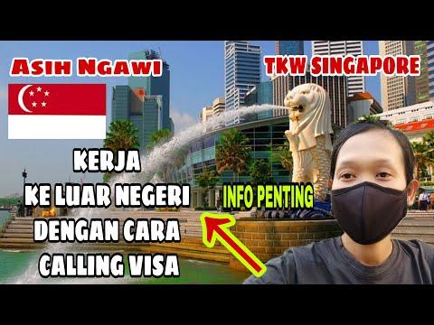 KERJA KE LUAR NEGERI DGN CARA CALLING VISA ❗ CERITA TKW SINGAPORE ❗@Asih Ngawi