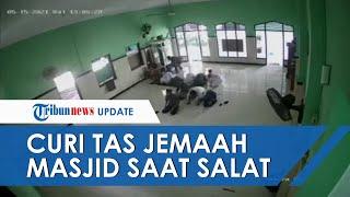 Detik-detik Pencurian Di Masjid Kabupaten Kediri Terekam Kamera CCTV, Pelaku Kabur Setelah Diteriaki