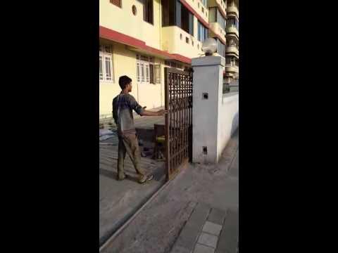 Manual Sliding Gate Youtube