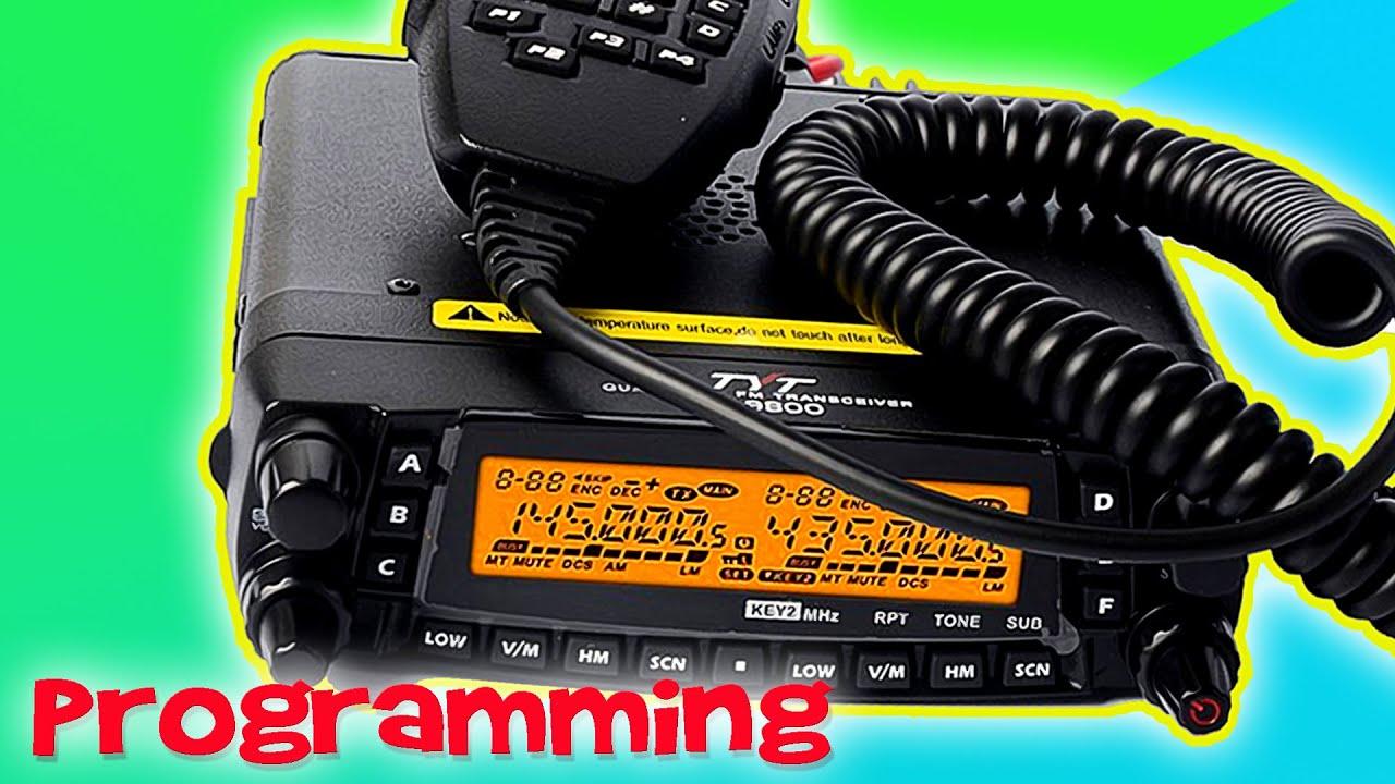 How To Program the TYT TH-9800 Quad Band Radio - Grapevine Ham Radio