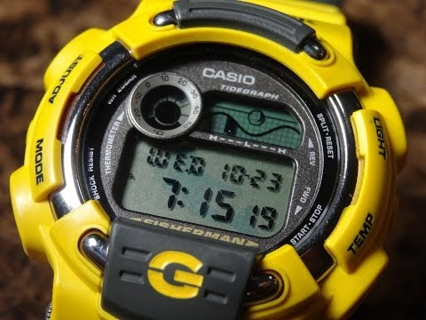 CASIO G-SHOCK REVIEW AND UNBOXING DW-8600YJ-9 YELLOW FISHERMAN 1998