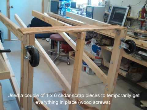 Build Rolling Lumber And Sheet Goods Cart