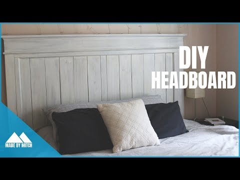 DIY Wood Farmhouse Headboard