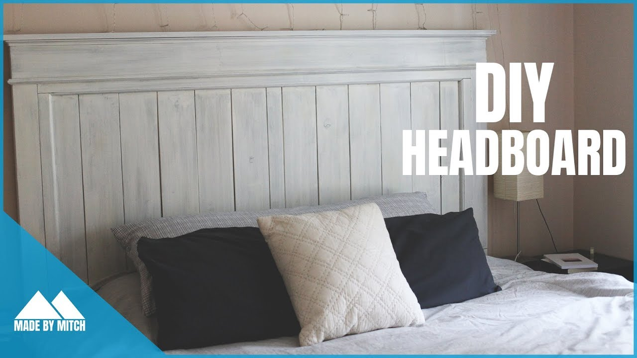 Diy Wood Farmhouse Headboard Youtube