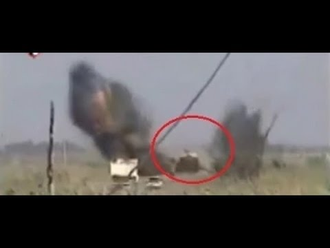 Powerfull IED Roadside Bomb Sends M1 Abrams Tank Flying In Iraq