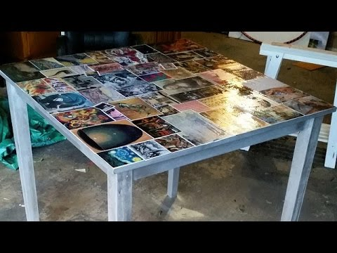 D i y decoupage dining table youtube Table making ideas