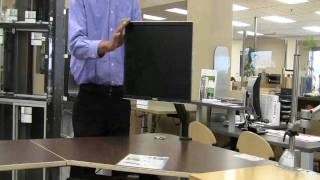 Richelieu Hardware Desk mount LCD flat panel monitor arm