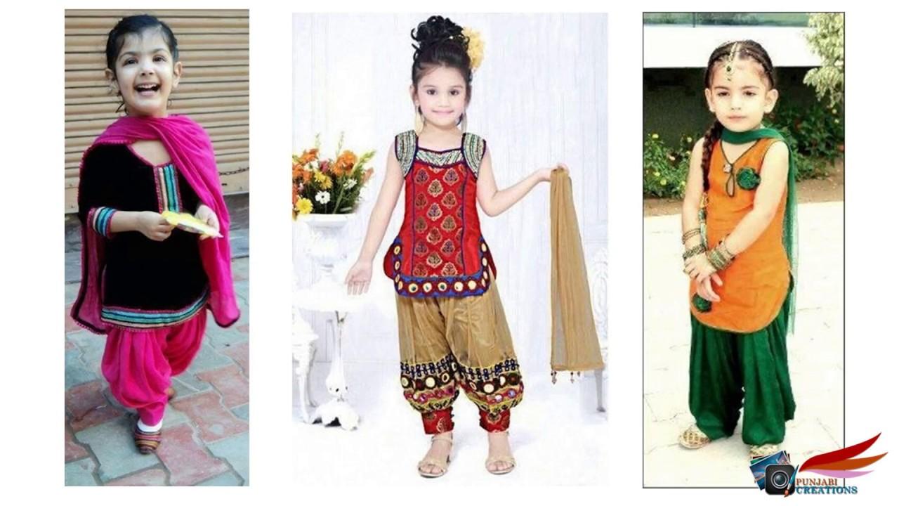 Little girls salwar kameez designs for Girls suit design