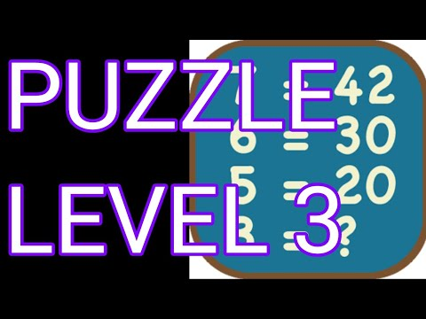 Math Puzzles Level 3 Walkthrough - YouTube