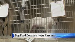 Dog food donation helps rescuers
