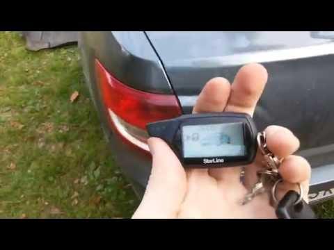Как открыть багажник с брелка starline