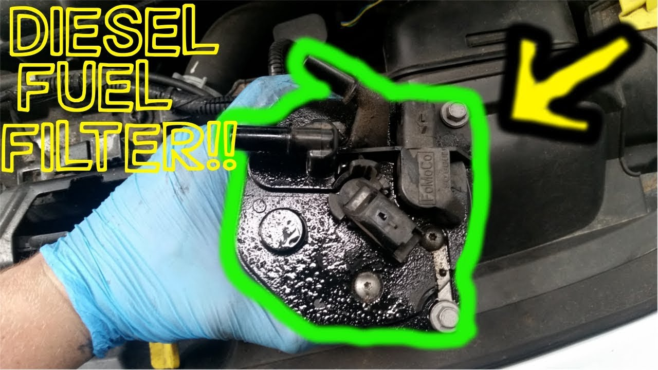 diesel fuel filter-how to replace on a ford fiesta duratorq - YouTubeYouTube