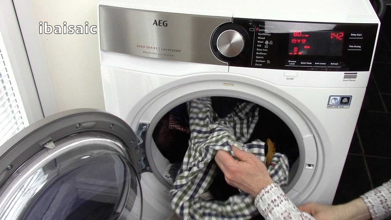 AEG 8000 Series Tumble Dryer Review Demonstration For Ao