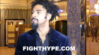 DAVID HAYE EXPLAINS BEEF WITH EDDIE HEARN; GUNNING FOR ANTHONY JOSHUA AFTER BELLEW CLASH