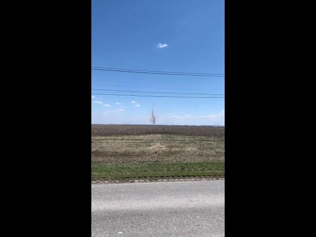 Очевидцы сняли смерч в Самарской области