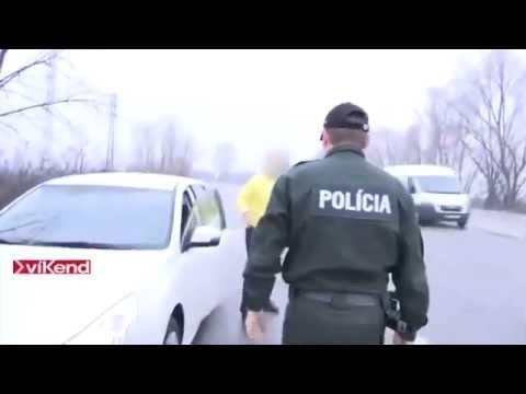 Vyjebaná slovenská polícia ohrozuje premávku za účelom vybrať čo najviac