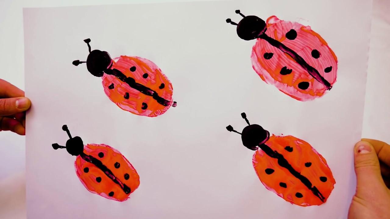 Ladybug Stamp Crafts Video