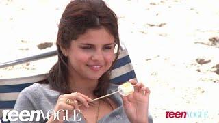Selena Gomez on the set of her Teen Vogue photo shoot