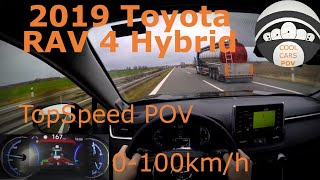 2019 Toyota Rav 4 2.5L Hybrid Highway POV / 0-100 / TopSpeed / Virtual Mirror