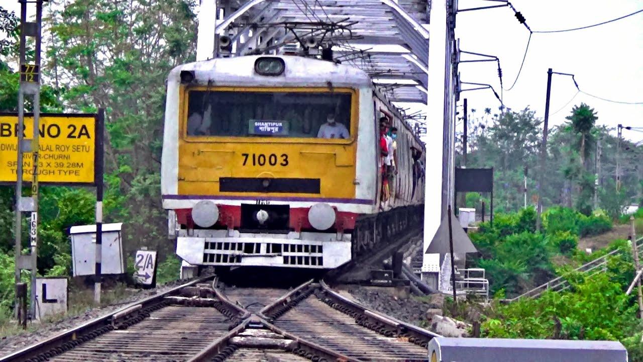 How to change the track | BESCO EMU train as Shantipur local | Eastern Railway