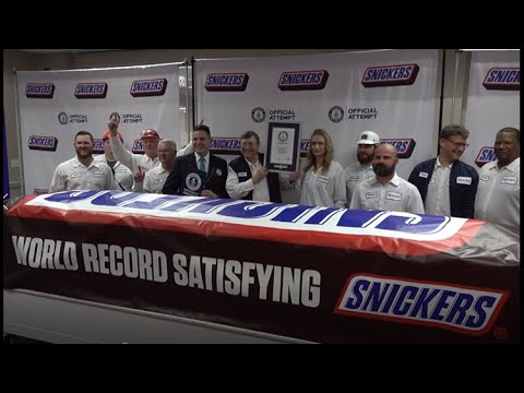 Lisa St. Regis - Worlds Largest Snicker Bar Revealed