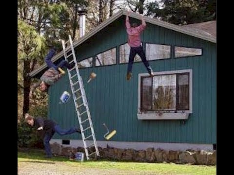 People Falling Off Ladders Compilation (Possibly Funny)