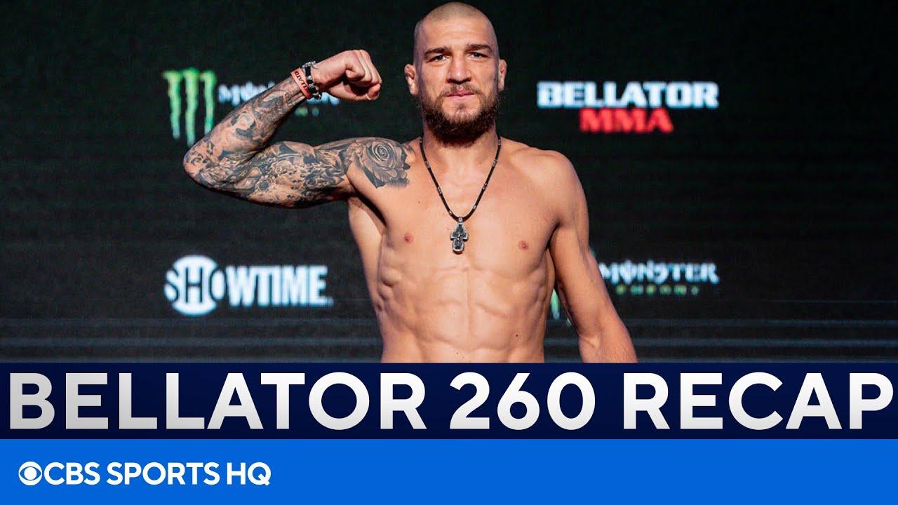 Yaroslav Amosov Smothers Douglas Lima for Welterweight Title | Bellator 260 Recap | CBS Sports HQ