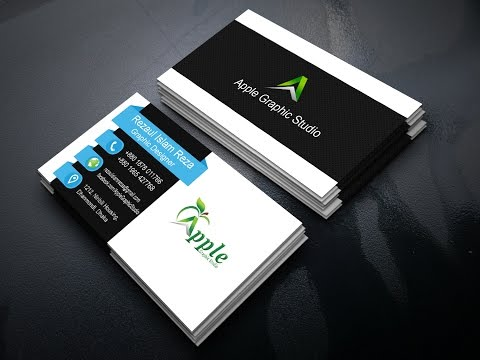 Stylish Business Card Design Tutorial   Adobe Photoshop CC