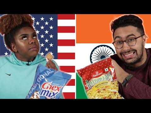 Americans & Indians Swap Snacks