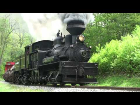 geared steam locomotives in cass wv youtube