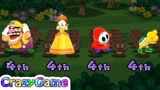 Mario Party 9 Garden Battle - Shy Guy v Koopa v Wario v Daisy Master Difficult |CRAZYGAMINGHUB
