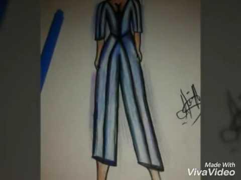 d078101383a50 Elbise çizimleri - YouTube