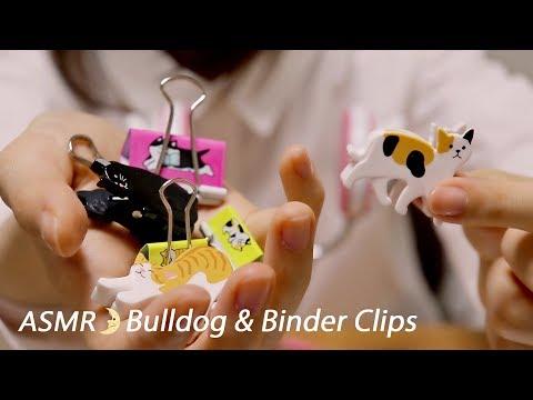 [Japanese ASMR] Bulldog & Binder Clips / Whispering / LifeLike 3D