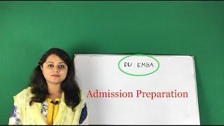 DU EMBA Admission Preparation