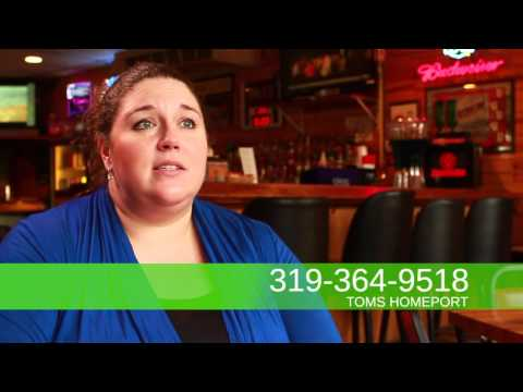 Tom's Homeport in Cedar Rapids, Iowa.  Food, Beer, Drinks, Nightlife  Video 500