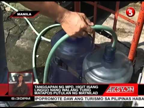 NEWS5E | AKSYON: MANILA POLICE DISTRICT WALANG TUBIG | MAY 22, 2013