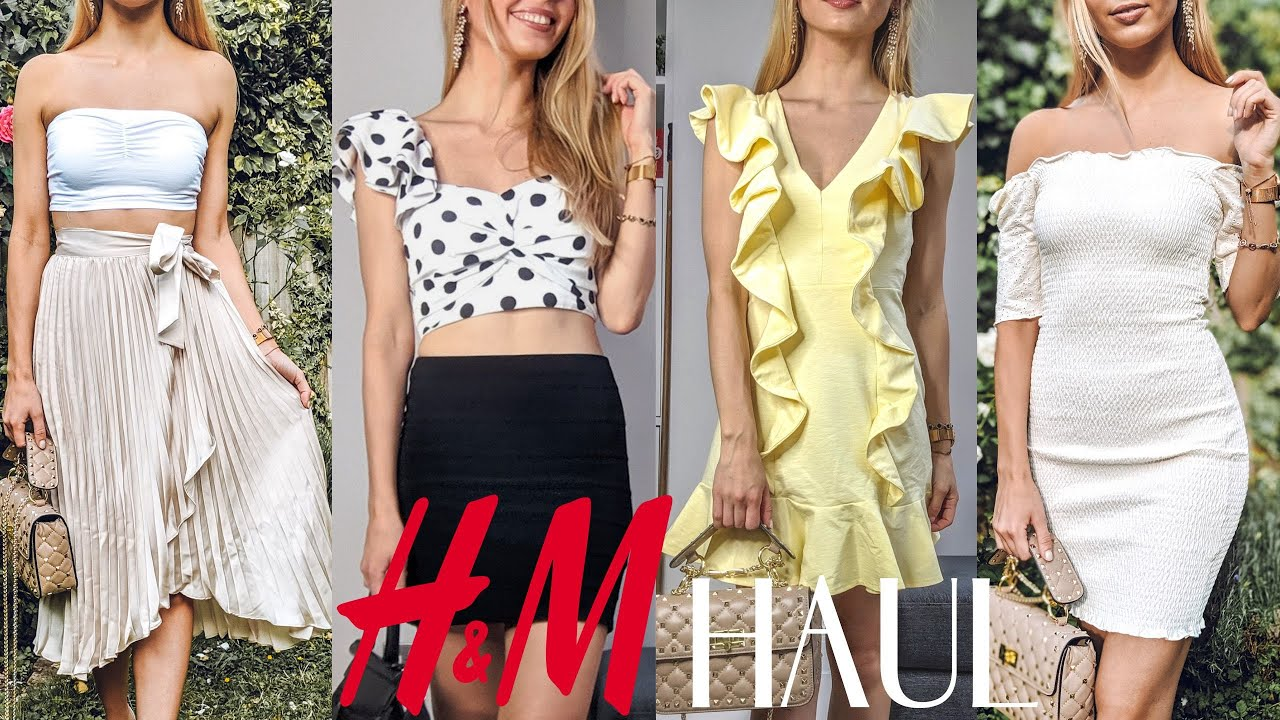 HUGE H&M SUMMER TRY ON HAUL – 10 DIFFERENT OUTFITS! (So Pretty!)   New In H&M 2019