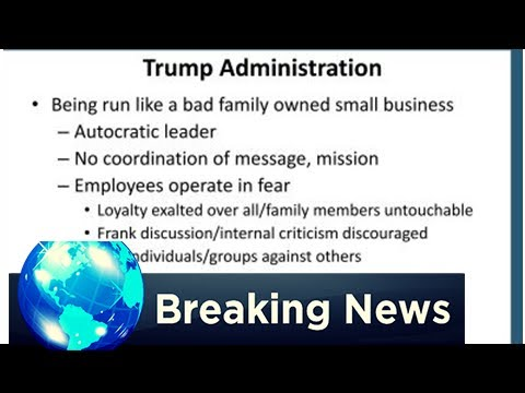 BREAKING: An industry group says the trump administration is run 'like a bad family owned small bus