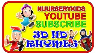 NurseryKids 3D Rhymes | Nursery Rhymes  | NurseryKids Youtube Channel Intro