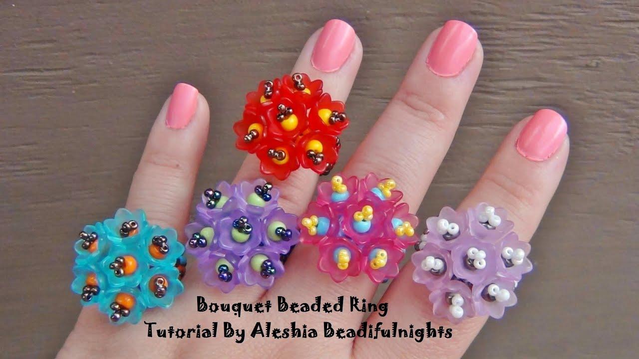 Bouquet beaded ring tutorial youtube baditri Choice Image