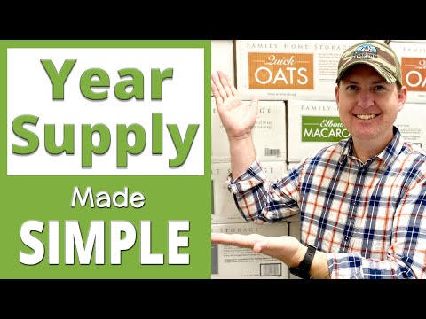 Year Supply of Food | Long-Term Food Storage Made Easy