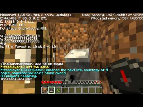 Minecraft Hunger Games Part 1/3-Blood Bath